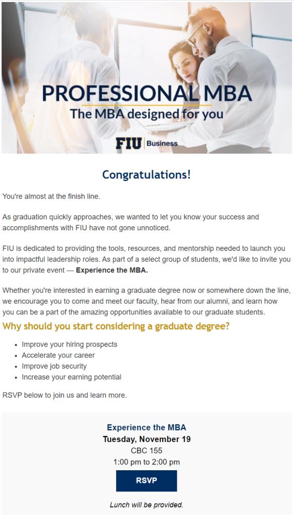FIU Professional MBA