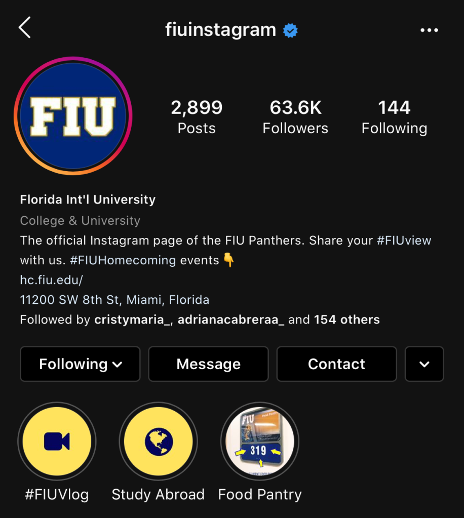FIU Instagram Stats