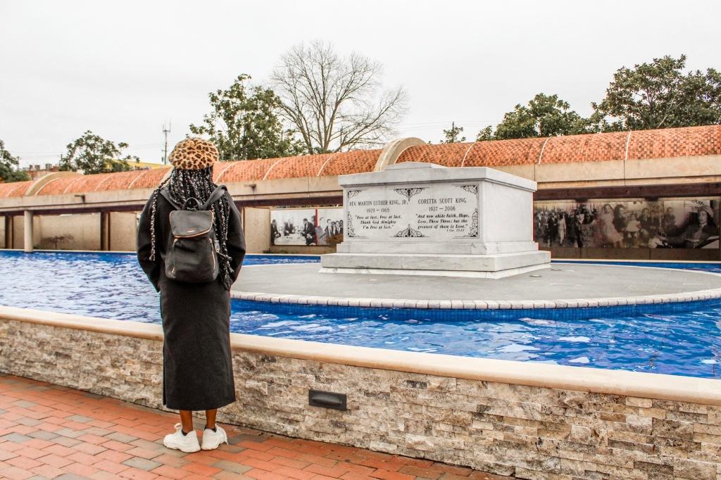 MLK Jr. and Coretta Scott King's Tombs