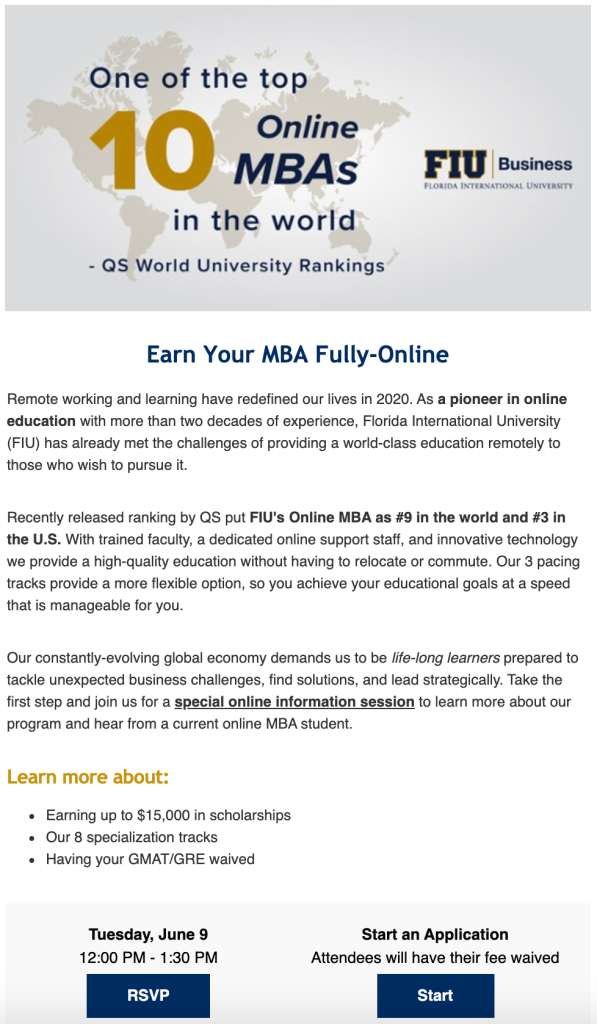 FIU Online MBA - COVID-19 Marketing