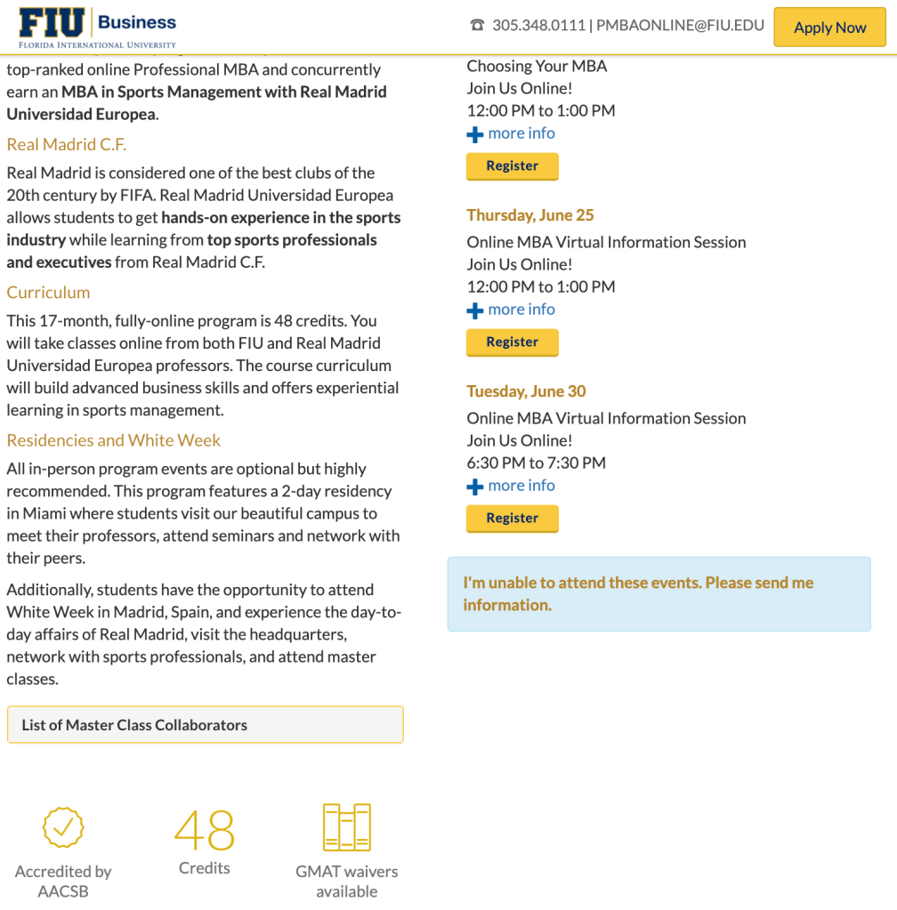 FIU's Dual Online MBA in Sports Management