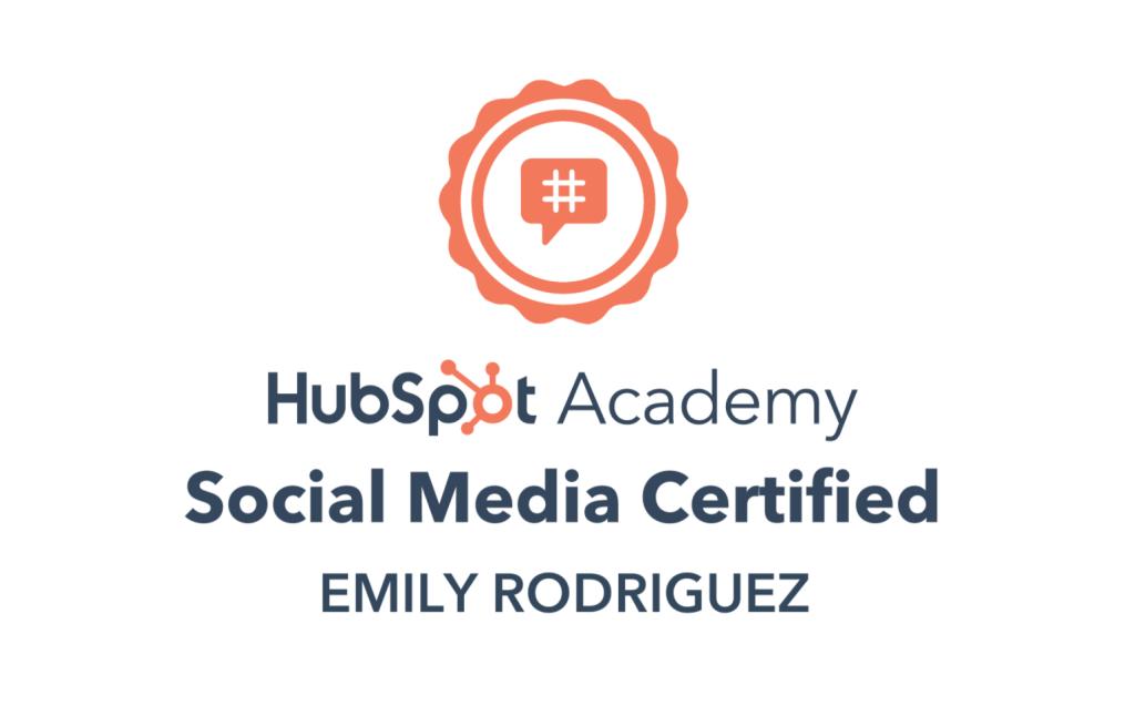 HubSpot Academy - Social Media Certified