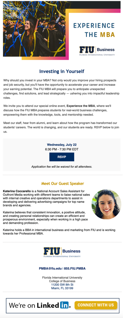 Experience the MBA Invite